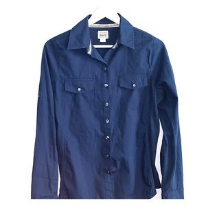 Converse one Star blue button up shirt size:s